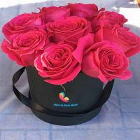 9 trandafiri la cutie - Flori in Baia Mare
